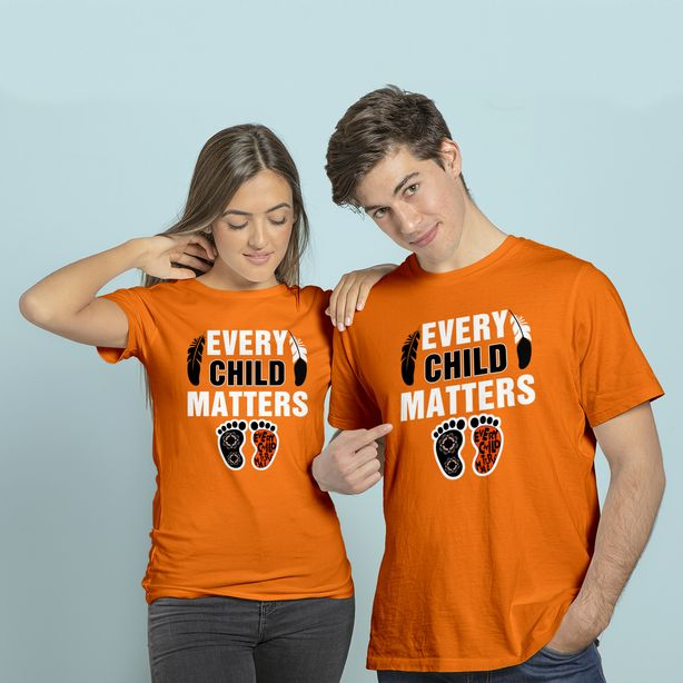 Men's T Shirt Every Child Matters Orange Day Residential Schools