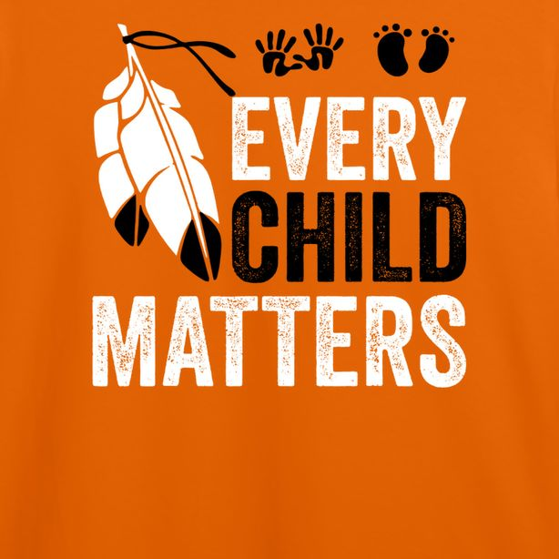 Every Child Matters T-Shirt With A Large Feather