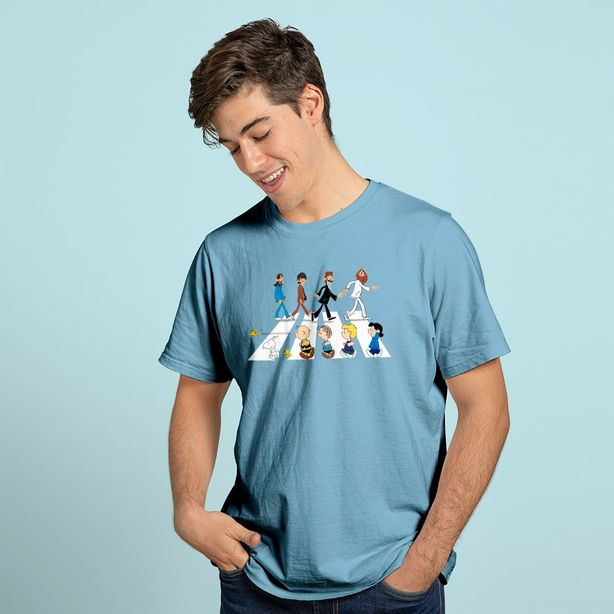 Peanuts In Abbey Road The Beatles Mashup Snoopy Charlie Brown T Shirt