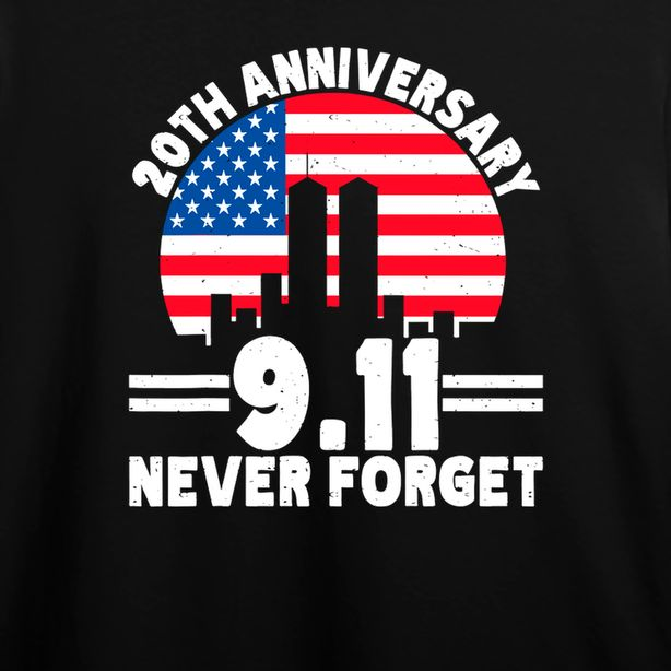 Never Forget 9 11 20th Anniversary Retro Patriot Day 2021 T Shirt